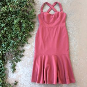Gal Meets Glam Rae Sweetheart Scuba Crepe Dress